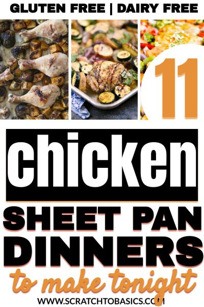 Gluten free chicken sheet pan dinners