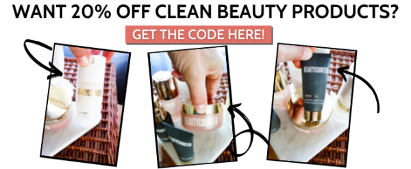 clean beauty product coupon code for 20% off of beautycounter