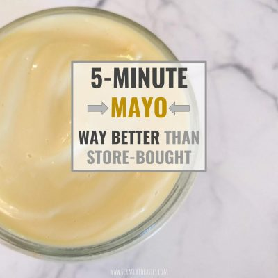 Homemade Mayonnaise in 5 Minutes