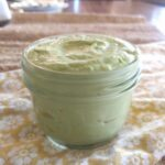 avocado mayonnaise in mason jar.