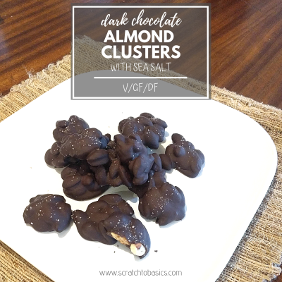 Dark Chocolate Almond Clusters with Sea Salt