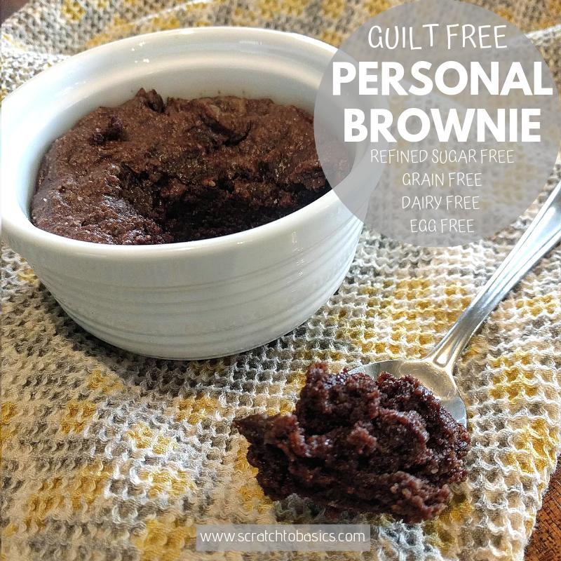 Guilt free personal brownie in ramekin to satisfy chocolate craving
