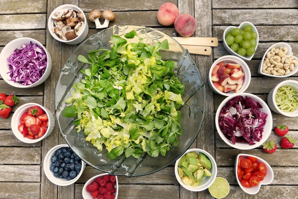 salad with topping options