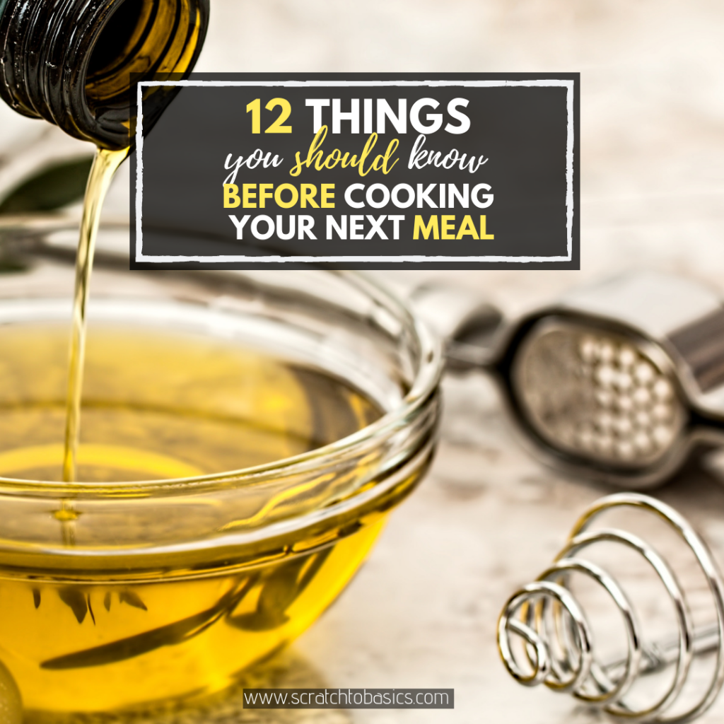 Don't cook another meal until you read this list. Twelve things you need to know before cooking with oil. Which oil to cook with, which oil to eat raw.