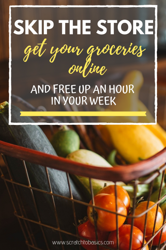 Skip the store and buy your groceries online. You'll free up an hour in your week and your groceries will be delivered right to your door.