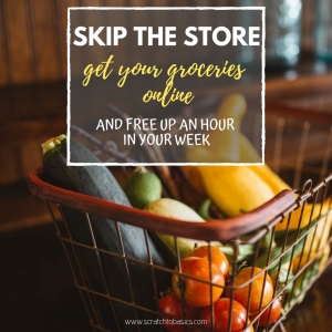Get your groceries online and free up an hour in your week.