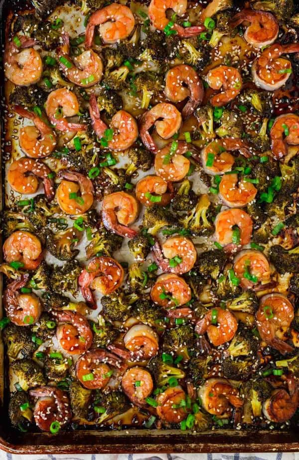 Shrimp and Broccoli Sheet Pan by Well Plated