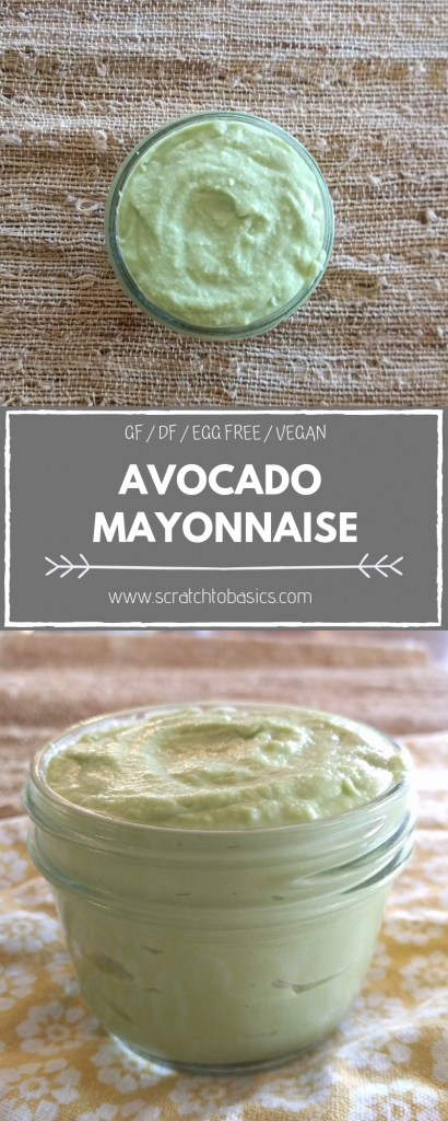 Five minute avocado mayo that's gluten free, dairy free, egg free and vegan. Make this today!