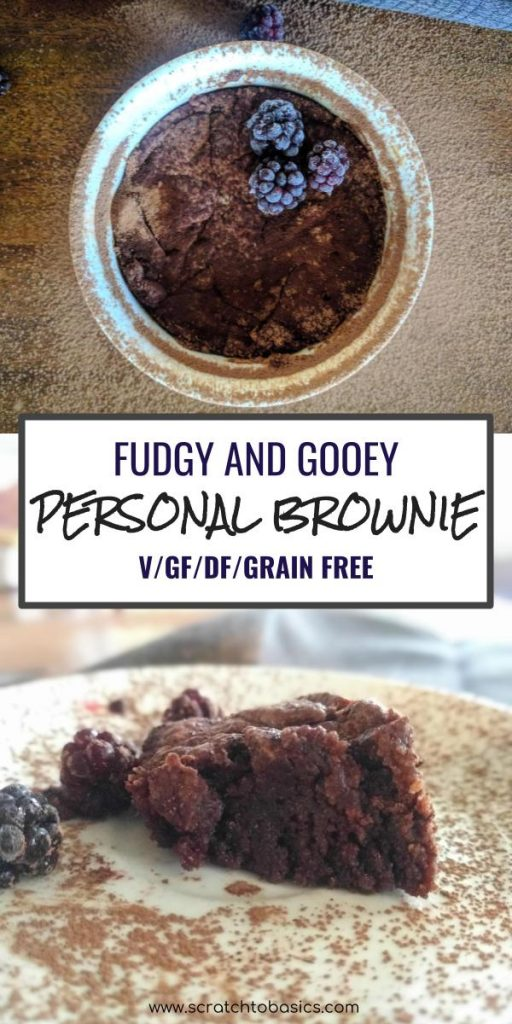 guilt free personal brownie pin