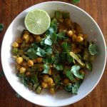 coconut chickpea curry with turmeric