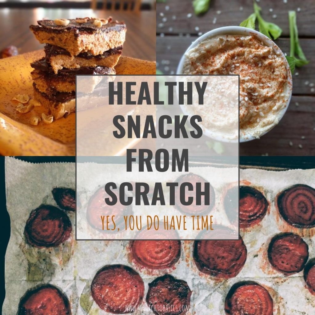 Looking for quick healthy snacks? It takes less than an hour each week to make a few healthy snacks that you can grab for nutrition and energy.