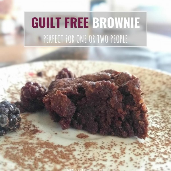 Guilt Free Personal Brownie to Satisfy Your Chocolate Craving