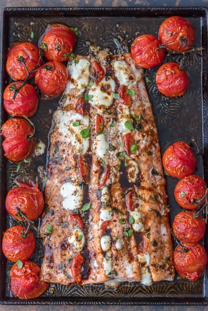 Caprese Stuffed Salmon by The Cookie Rookie
