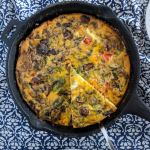 Frittata in cast iron