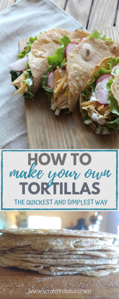 Have you heard of the wonderful time-saving tortilla press? Forget the rolling pin when making homemade tortillas, and bring out the tortilla press! #scratchtobasics