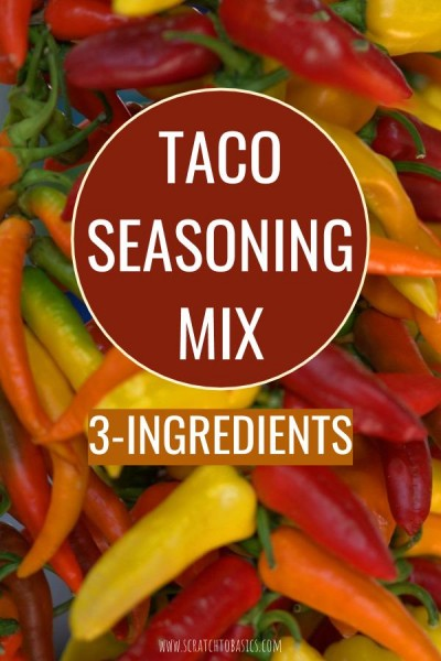 taco seasoning mix with only three ingredients.