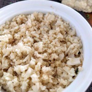 cauliflower rice in ramekin