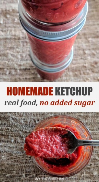 Homemade ketchup is made with real food and no added sugar.