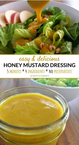 easy and delicious honey mustard dressing.