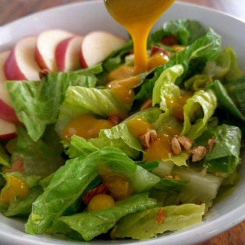 4 Ingredient Honey Mustard Salad Dressing
