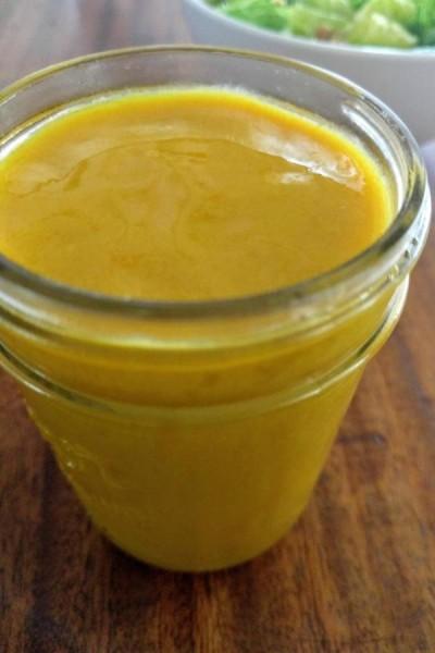 honey mustard in mason jar
