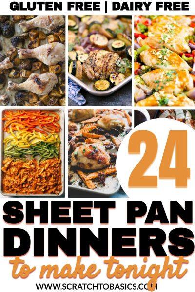 Gluten free sheet pan dinners