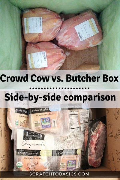 crowd cow vs butcher box - a side by side comparison