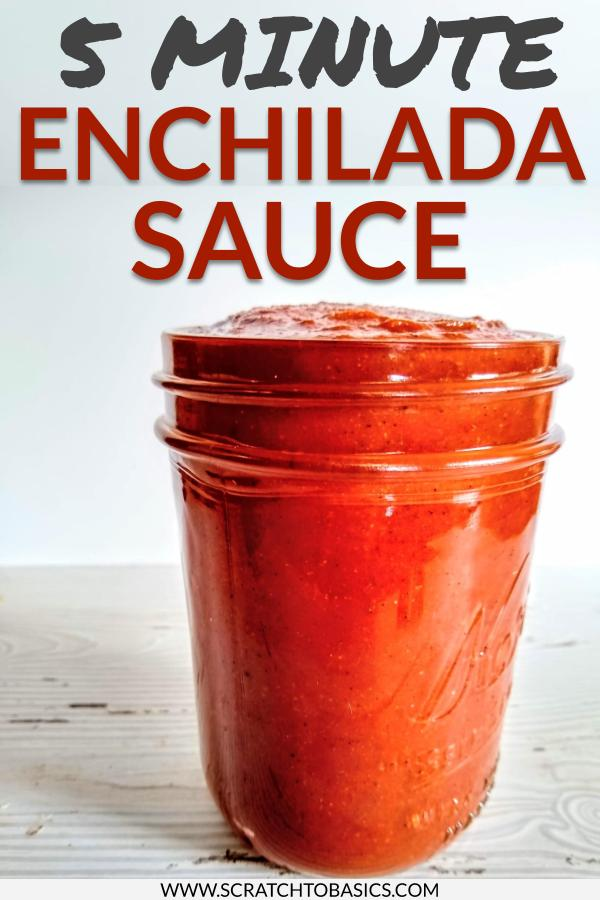 Five minute enchilada sauce