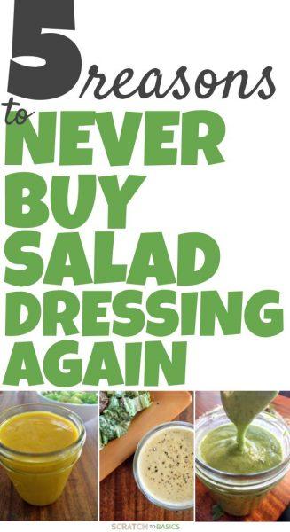 Never buy salad dressing again.