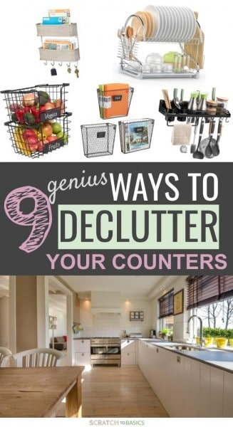 9 genius ways to declutter your kitchen counters