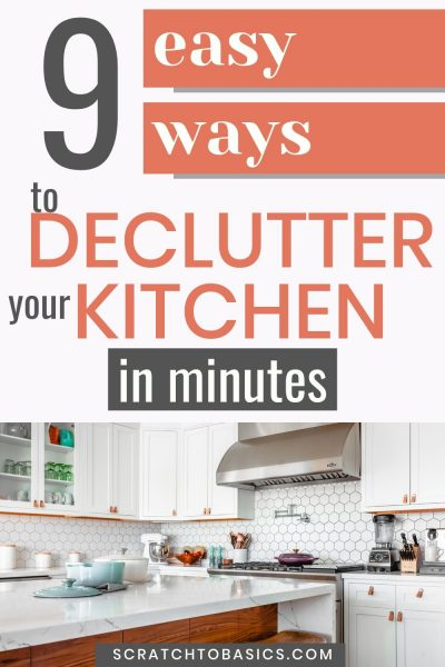 9 easy ways to declutter your kitchen in minutes