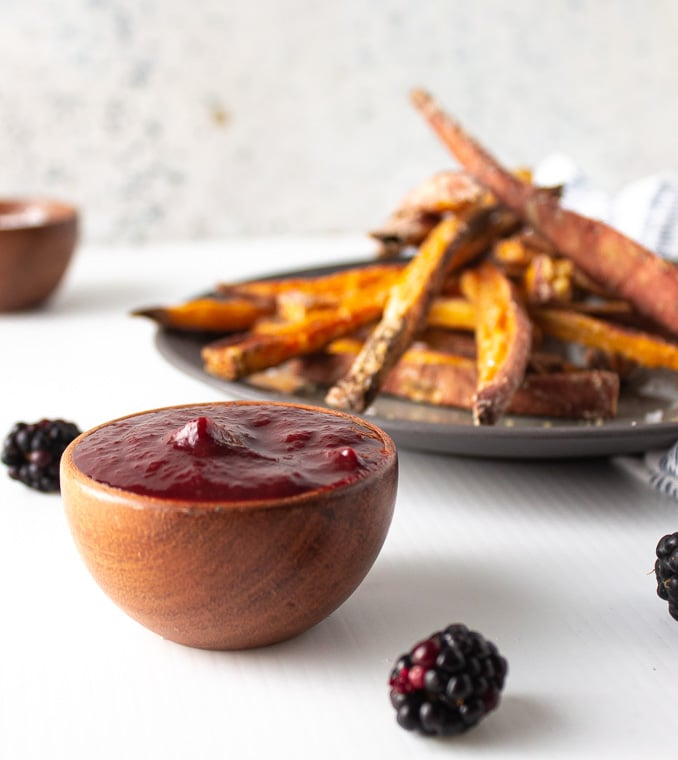 Blackberry tomato ketchup makes a great holiday gift