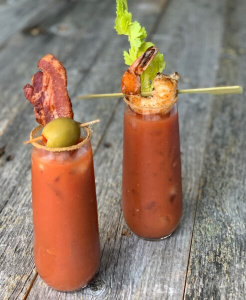 bloody  mary using tomato paste
