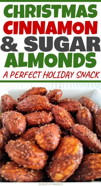 Christmas cinnamon & sugar almonds