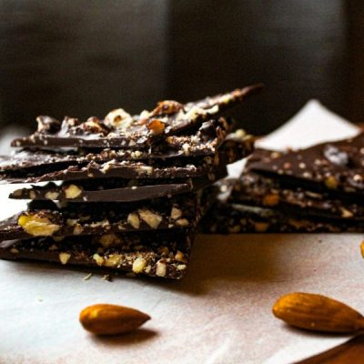 How to Make Dark Chocolate Almond Bark [Dairy Free | Gluten Free]