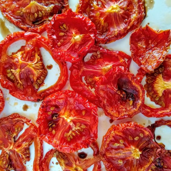 Oven roasted tomatoes to top your pizza