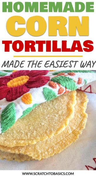 Homemade corn tortillas made the easy way