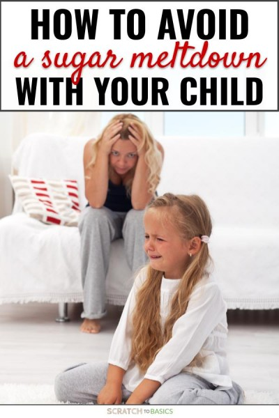 How to avoid a sugar meltdown with your child. This post gives ways to make it through common obstacles when you're cutting sugar with kids.