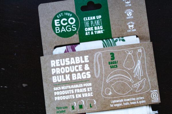 Eco bags produce & bulk bags in package