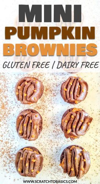 mini pumpkin brownies