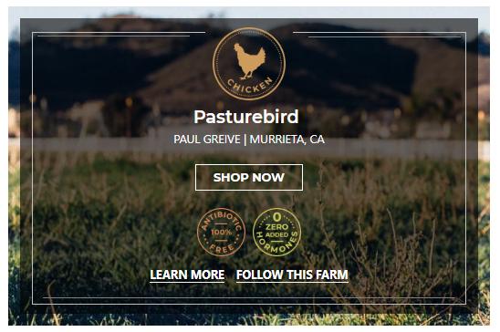 Pastured chicken from Pasturebird Farm on Crowd Cow
