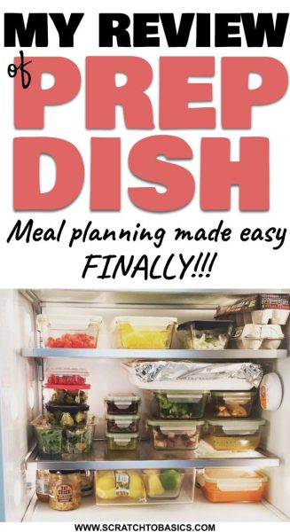 My review of prep dish - meal planning made easy...finally!