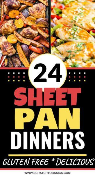 24 gluten free sheet pan dinners