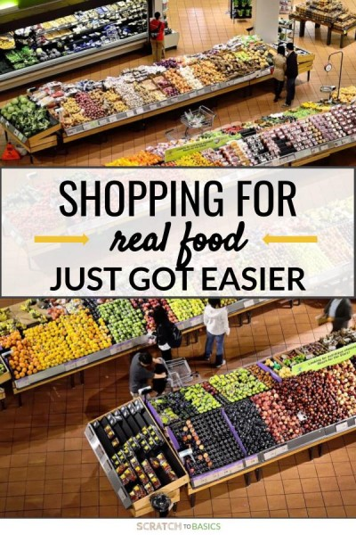 Shopping for real food just got easier when you're following a no processed food diet.