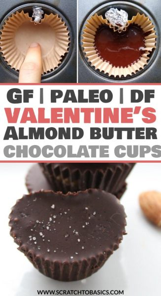Valentine's day almond butter cups