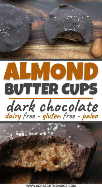 Almond butter cups made with dark chocolate