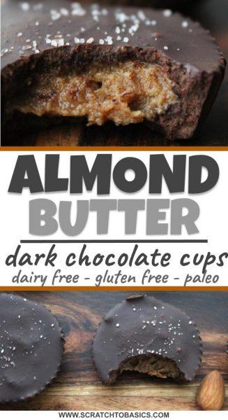 Almond butter dark chocolate cups