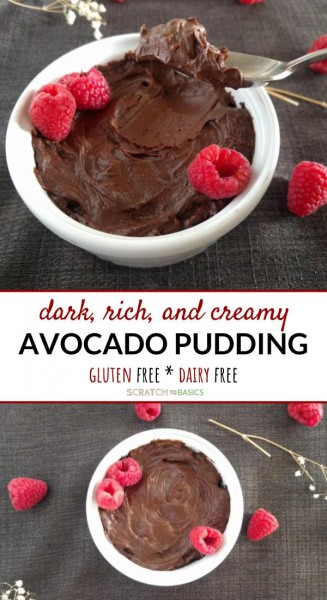 chocolate pudding with avocados