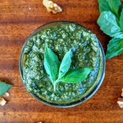 How to Easily Make Basil Walnut Pesto