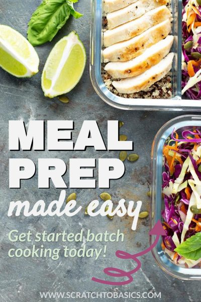 Meal prep made easy - get started batch cooking today